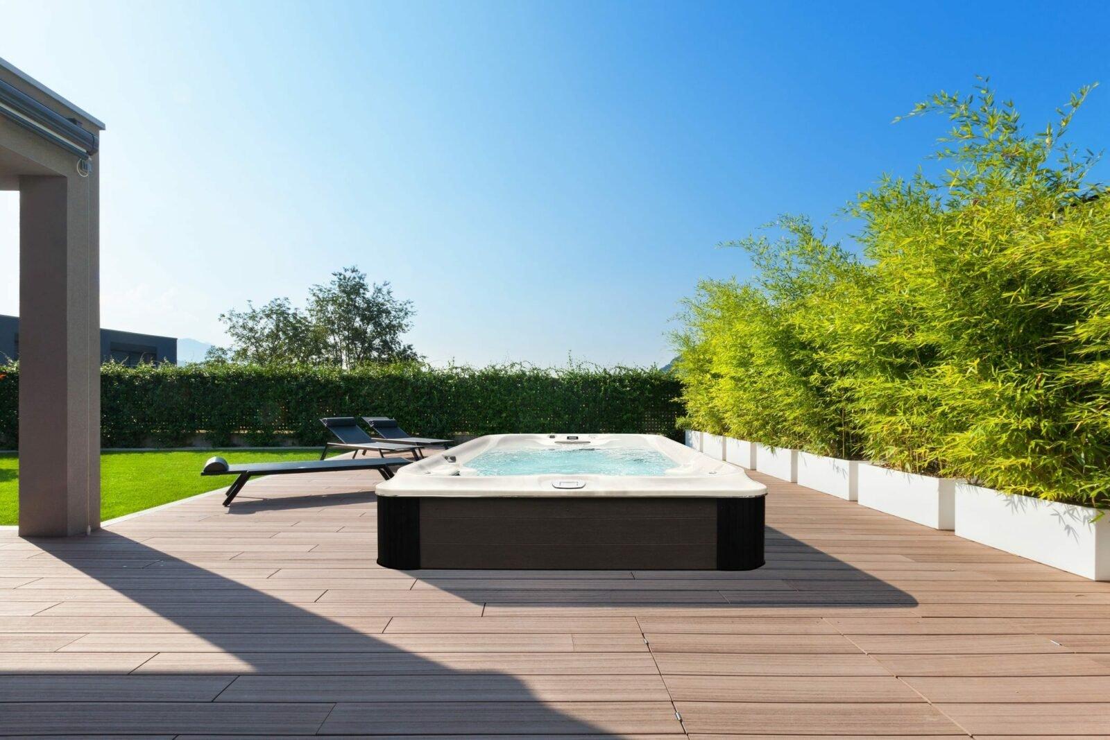outdoor jacuzzi brand swim spa in Western New York